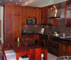 Discount kitchen cabinets bill house plans for Cherry wood kitchen cabinets price