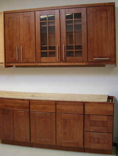 Natural Cherry Shaker Cabinet Kitchen
