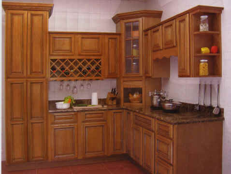 Designs  Kitchens on Square Raised Panel   Stained And Glazed